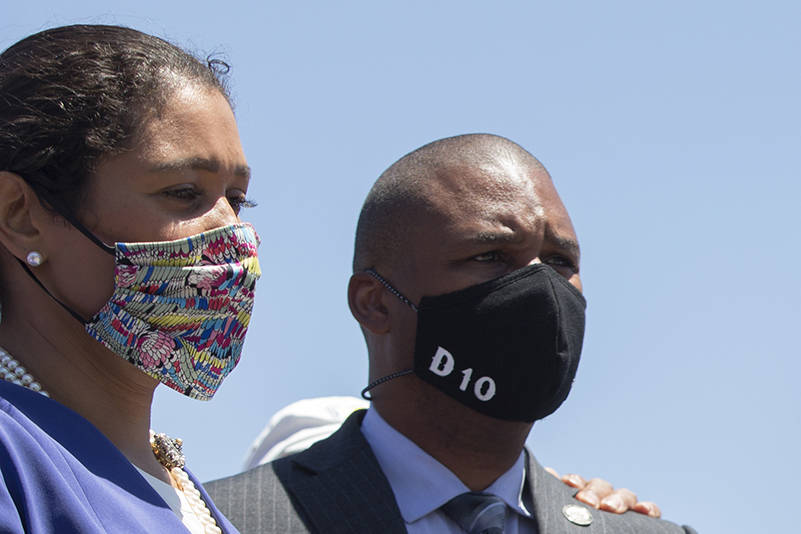 London-Breed-Shamann-Walton-0620-by-Kevin-Hume-SF-Examiner, Mayor London Breed announces spending plan for $120 million reinvestment in San Francisco's African American community, Local News & Views