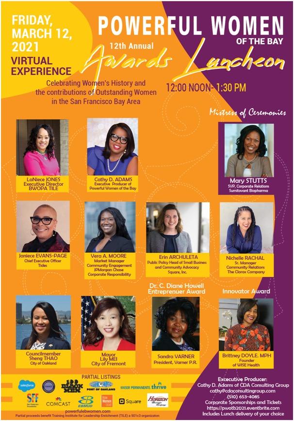 Powerful-Women-Awards-Luncheon-031221, Wanda's Picks March 2021, Culture Currents