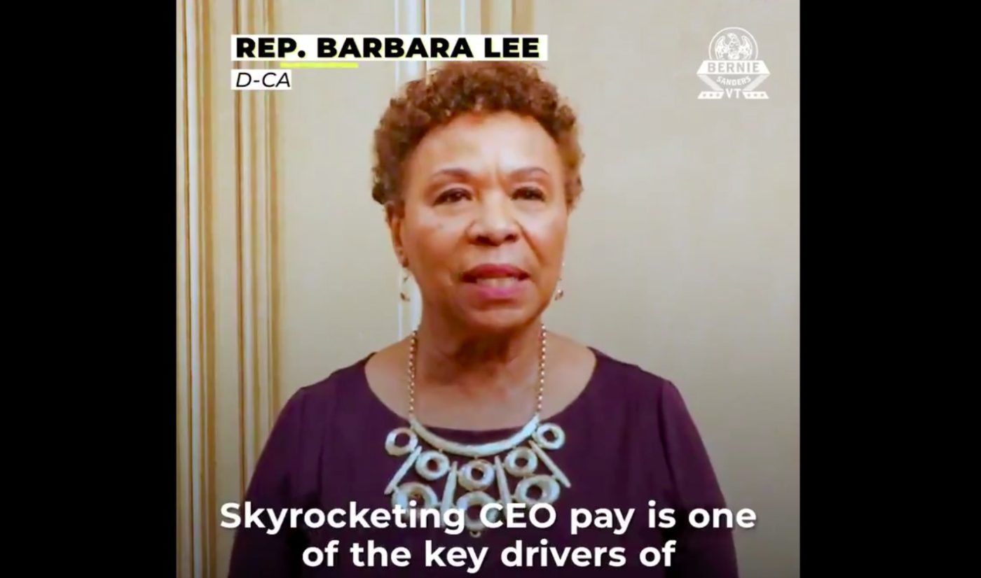 Barbara-Lee-still-from-introduction-of-the-Tax-Excessive-CEO-Pay-Act-111319-1400x826, Congresswoman Lee, Sen. Sanders and colleagues introduce legislation to combat corporate greed and end outrageous CEO pay, National News & Views