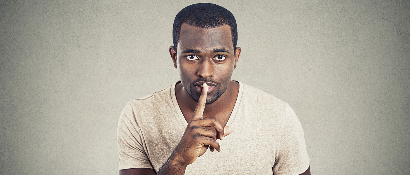 Black-man-calls-for-silence, Vow of Silence, Behind Enemy Lines