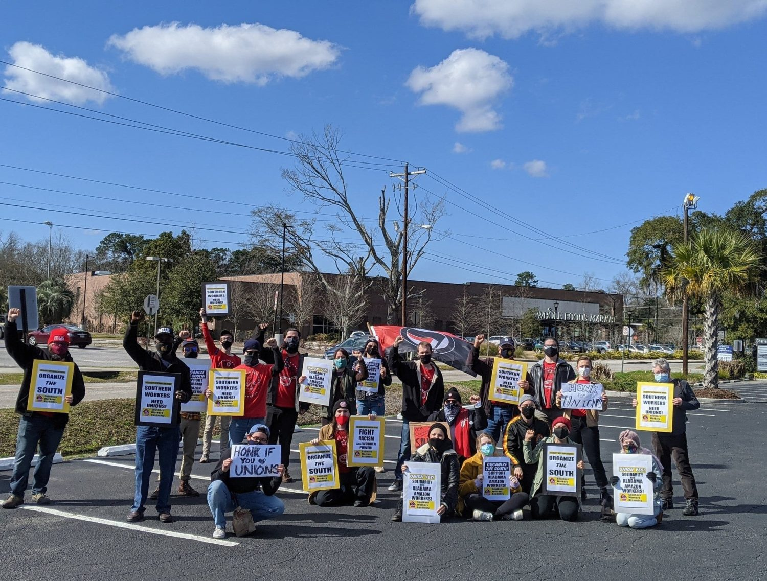 Charleston-South-Carolina-Amazon-workers-support-protest-022021-1, Black Workers Matter! Nationwide protests supporting Amazon workers in Alabama from the Bay to Harlem, National News & Views Photo Gallery