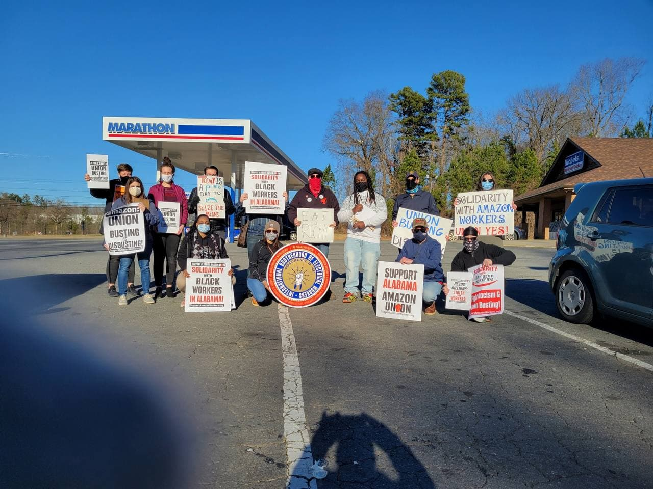 Charlotte-North-Carolina-1, Black Workers Matter! Nationwide protests supporting Amazon workers in Alabama from the Bay to Harlem, National News & Views Photo Gallery