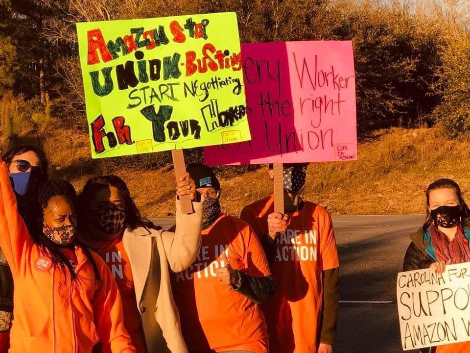 Columbia-South-Carolina-1, Black Workers Matter! Nationwide protests supporting Amazon workers in Alabama from the Bay to Harlem, National News & Views Photo Gallery