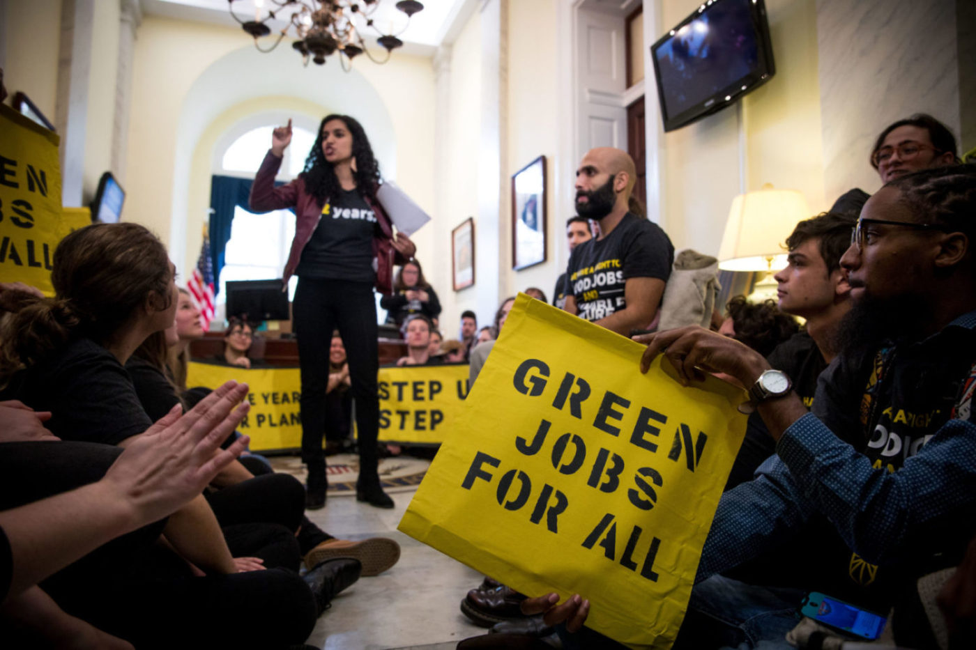 Green-New-Deal-Green-Jobs-for-All-Pelosi-office-action-111318-by-Rachael-Warriner-Sunrise-Movement-1400x933, Democrats unveil 'Build Green' Infrastructure and Jobs Act, National News & Views