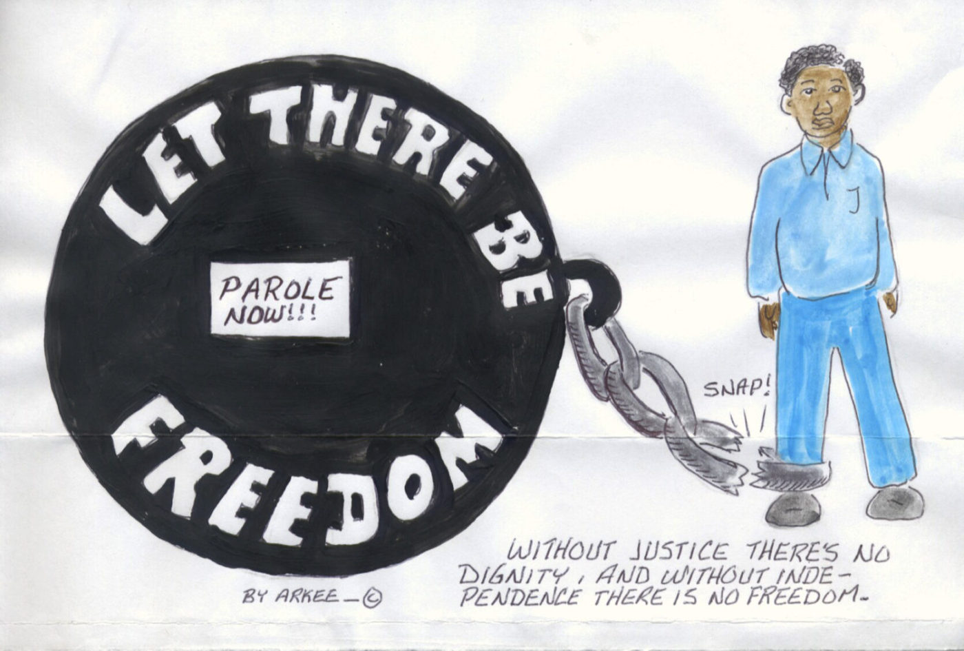Let-There-Be-Freedom-Parole-Now-art-by-Arkee-Chaney-1400x945, Parole boards – the stumbling block in the offender's stride to freedom, World News & Views