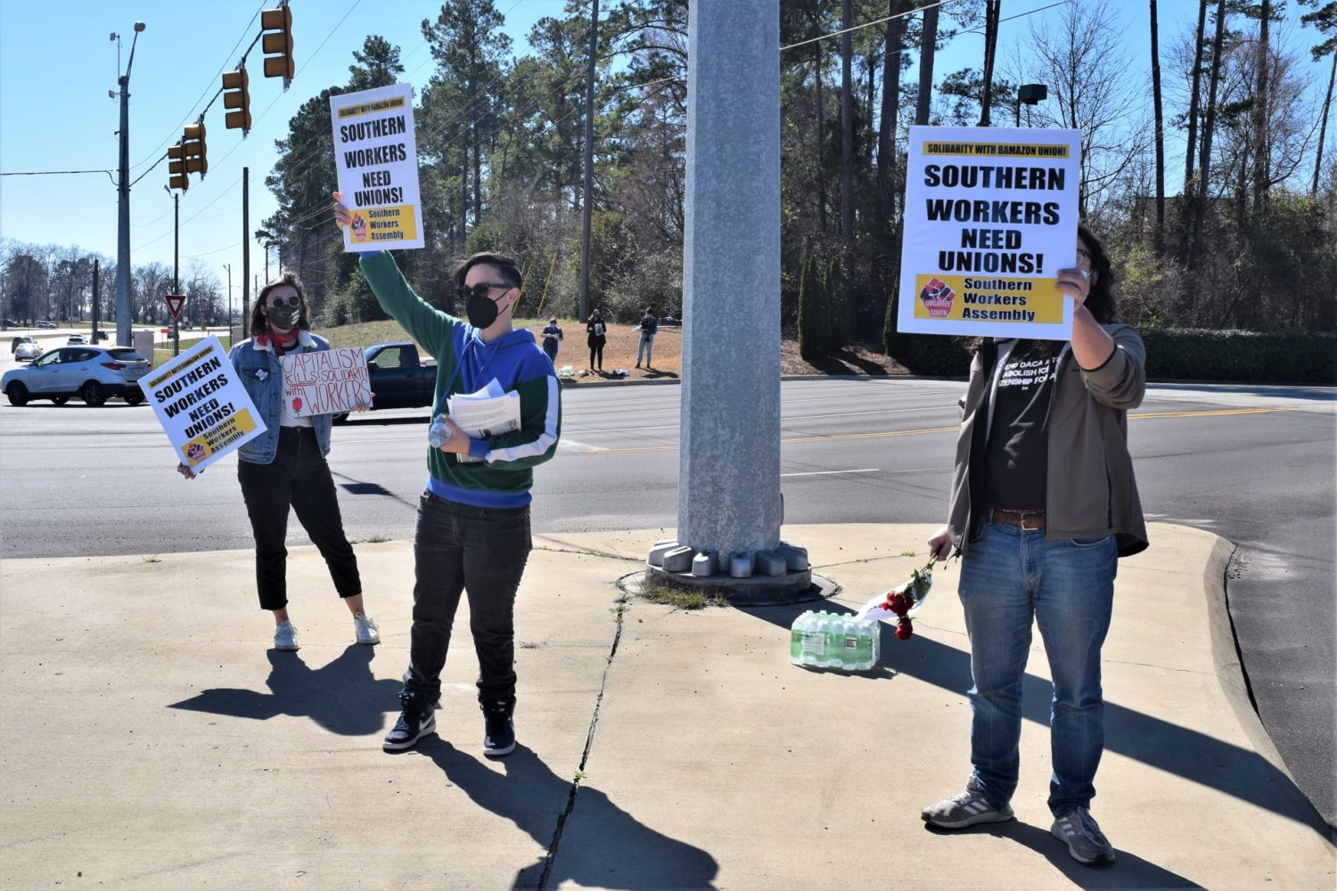 Montgomery-Alabama-Amazon-workers-support-protest-022021-1, Black Workers Matter! Nationwide protests supporting Amazon workers in Alabama from the Bay to Harlem, National News & Views Photo Gallery