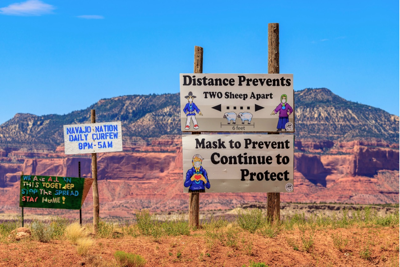 Navajo-Nation-COVID-signs, The other deadly COVID prisons: Reservations and COVID-19, National News & Views
