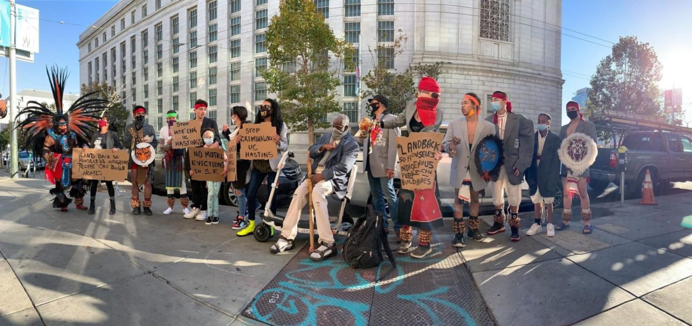 POORs-Stolen-Land-Tour-of-Tenderloin-protests-UC-Hastings-sweep-of-homeless-from-vicinity-121620-by-PNN-1400x661, From UC Berkeley to UC Hastings: Colleges steal and hoard land, lives and resources, Local News & Views