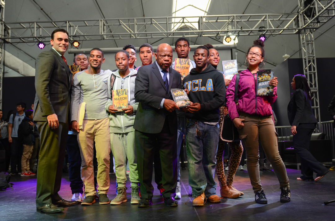 San-Francisco-youth-John-Lewis-book-tour-'March-Book-Two-signed-copies-SF-State-021815-by-Don-Bowden, Never stop dreaming, Local News & Views