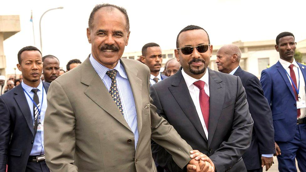 Abiy-Ahmed-of-Ethiopia-and-dictator-Isaias-Afwerki-of-Eritrea-by-Ghideon-Musa-Aron-Visafric, End the war on Africans: The truth about Eritrea and Ethiopia's brutal regimes, World News & Views