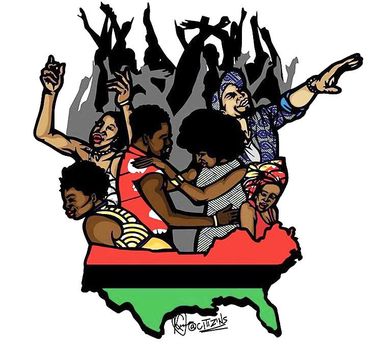 Afrikan-Black-Diaspora-graphic-by-@Citizins, Afrikan, New Afrikan, Black humanity, Behind Enemy Lines