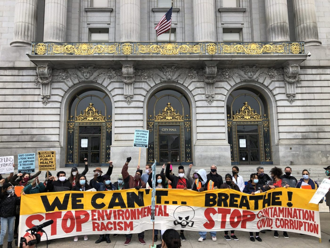 Earth-Day-group-photo-Greenaction-rally-City-Hall-'We-Cant-Breathe-042221-by-Griffin-1400x1050, Earth Day 2021 in San Francisco!, Local News & Views