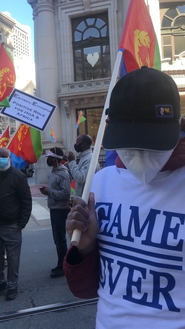 Eritrea-Ethiopia-rally-by-Dina-Tesfay-Game-Over-shirt-032621, End the war on Africans: The truth about Eritrea and Ethiopia's brutal regimes, World News & Views