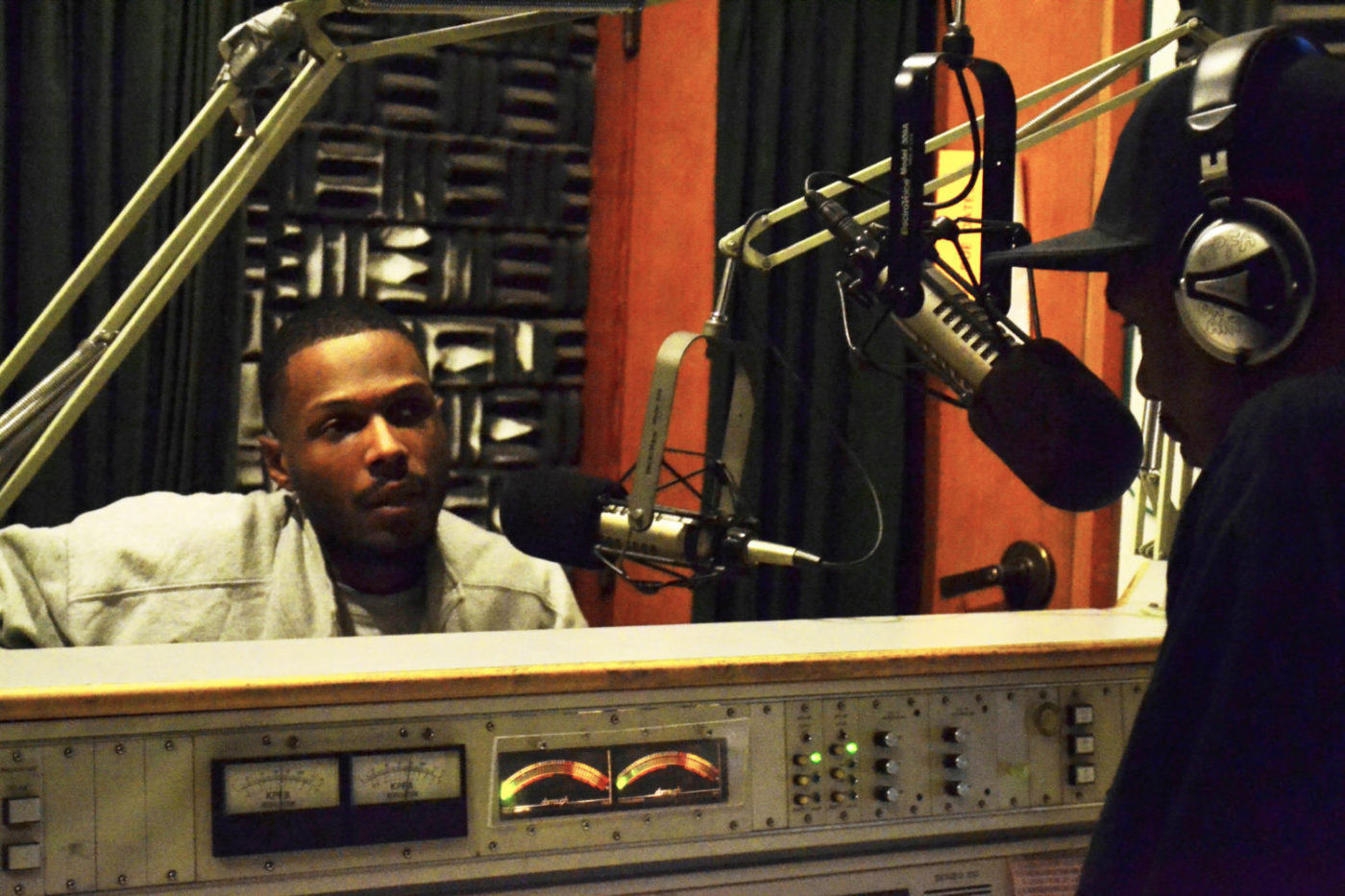 Malcolm-JR-broadcasting-Block-Report-Friday-Night-Vibe-KPFA-120311-1400x933, Pacifica Radio: Let's talk about the debt, Local News & Views