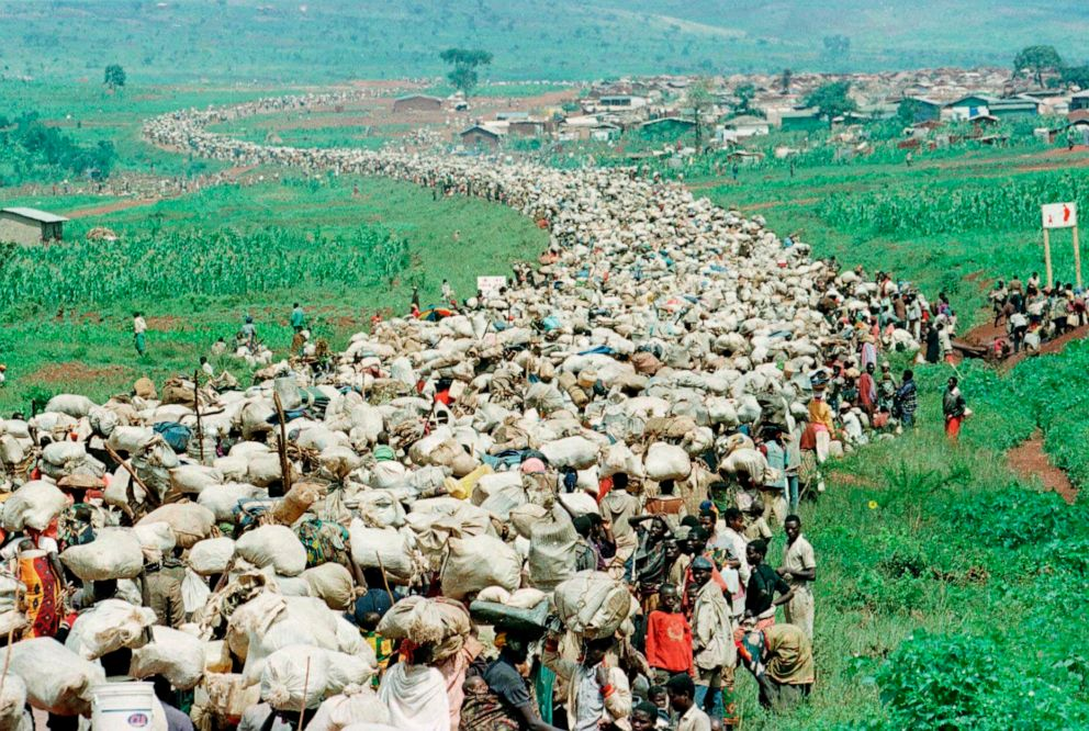 Rwandans-who-fled-to-Tanzania-in-1994-forced-back-on-121996-by-Jean-marc-Bouju-AP, Rwanda and Zaire (DRC) 1990 to 1997, where the US blocked real humanitarian intervention, World News & Views