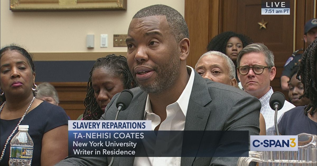 Author-Ta-Nehisi-Coates-testifies-House-Judiciary-hearing-on-Reparations-HR-40-061919-by-C-SPAN, Slavery, historic trauma and the critical need for reparations, National News & Views