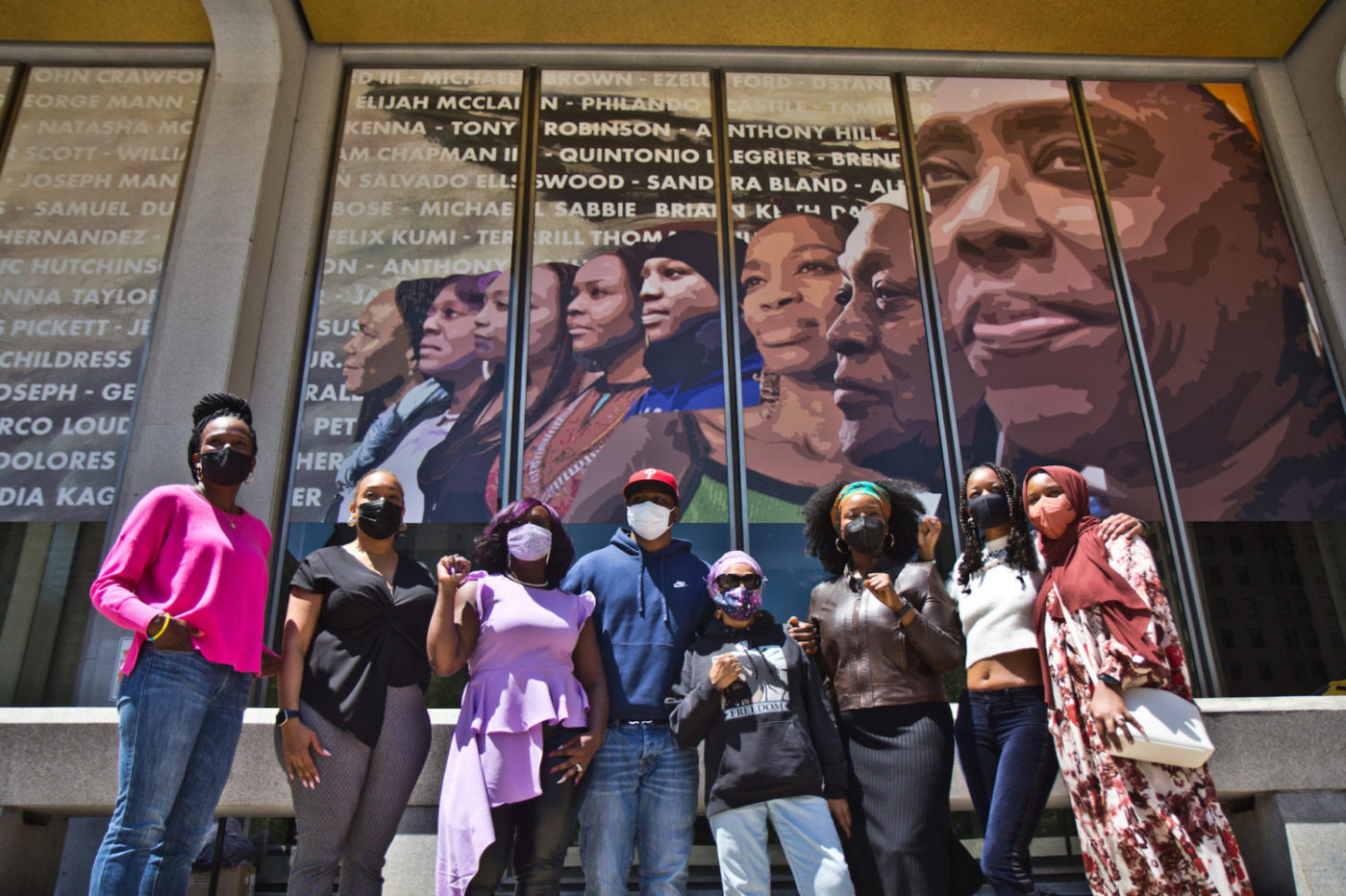 Crown-Mural-activists-stand-in-front-of-mural-unveiled-051121-that-pays-homage-to-their-work-by-Kimberly-Paynter-WHYY-1-1400x932, Mumia Abu-Jamal's spiritual advisor confronts DA Krasner and the FOP, Behind Enemy Lines
