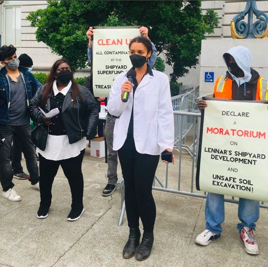 Dr.-Aude-Bouagnon-speaks-at-Earth-Day-City-Hall-rally-042221-by-Ahimsa, Why I am calling for a Local Health Emergency in San Francisco, Local News & Views