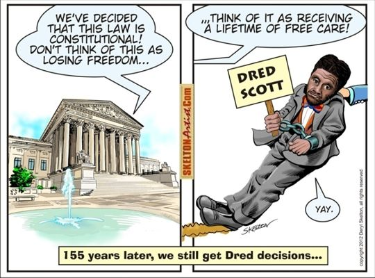 Dred-Scott-cartoon-art-by-Daryl-Skelton, A narrative of two American slaves, Behind Enemy Lines