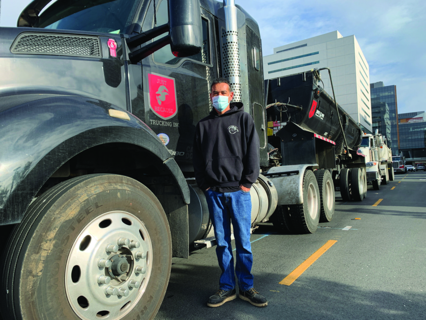 Gerardo-Just-Because-Trucking-UCSF-job-site-shutdown-043021-by-Griffin-1400x1050, Black truckers shut down multi-million-dollar UCSF job site for 4.5 hours, Local News & Views