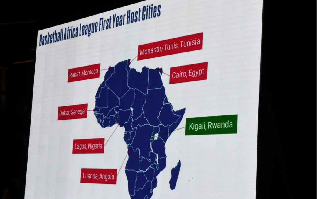 Map-of-host-cities-for-NBA-backed-Basketball-Africa-Leagues-inaugural-season-by-Seyllou-AFP, Voices are raised against the NBA launching its new African league in Rwanda, World News & Views