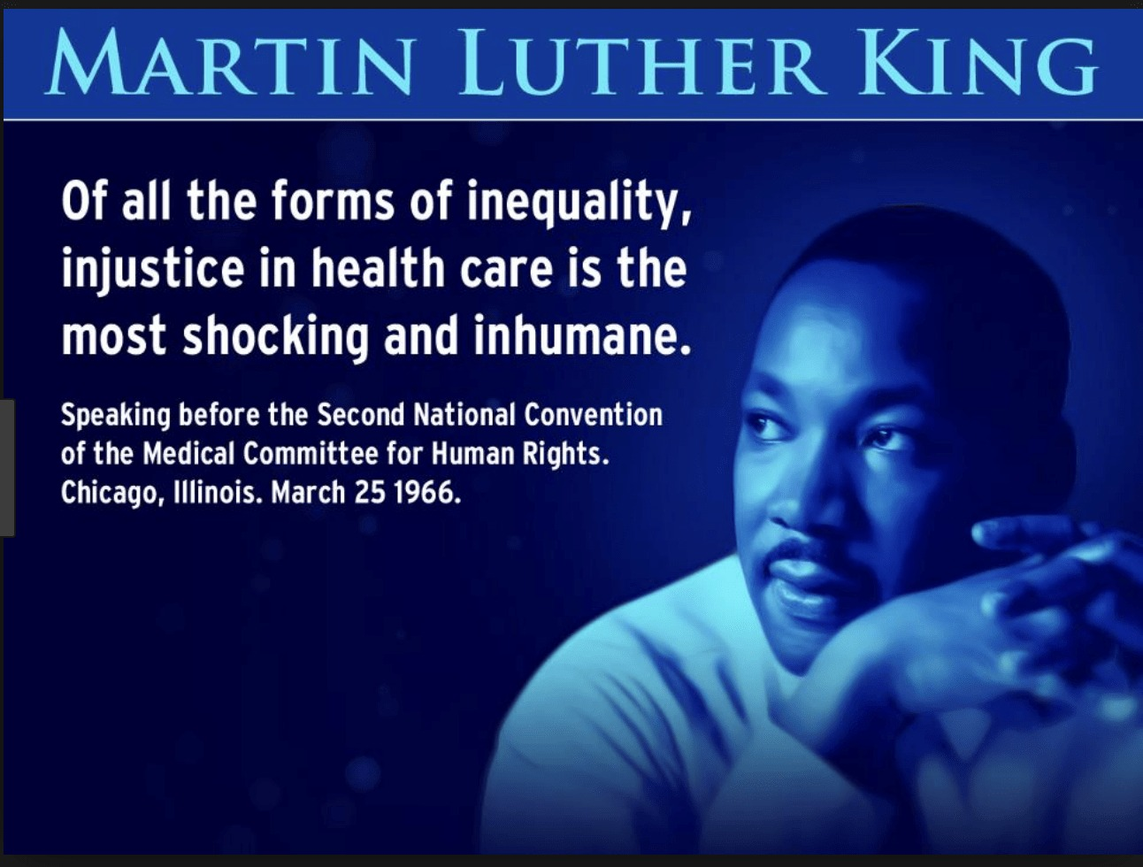 Martin-Luther-King-Of-all-the-forms-of-inequality-injustice-in-health-care-is-the-most-shocking-and-inhumane-1966-meme, Green Party of California condemns Democratic Party 'betrayal' for shelving of Guaranteed Health Care for All Act, AB 1400, Local News & Views