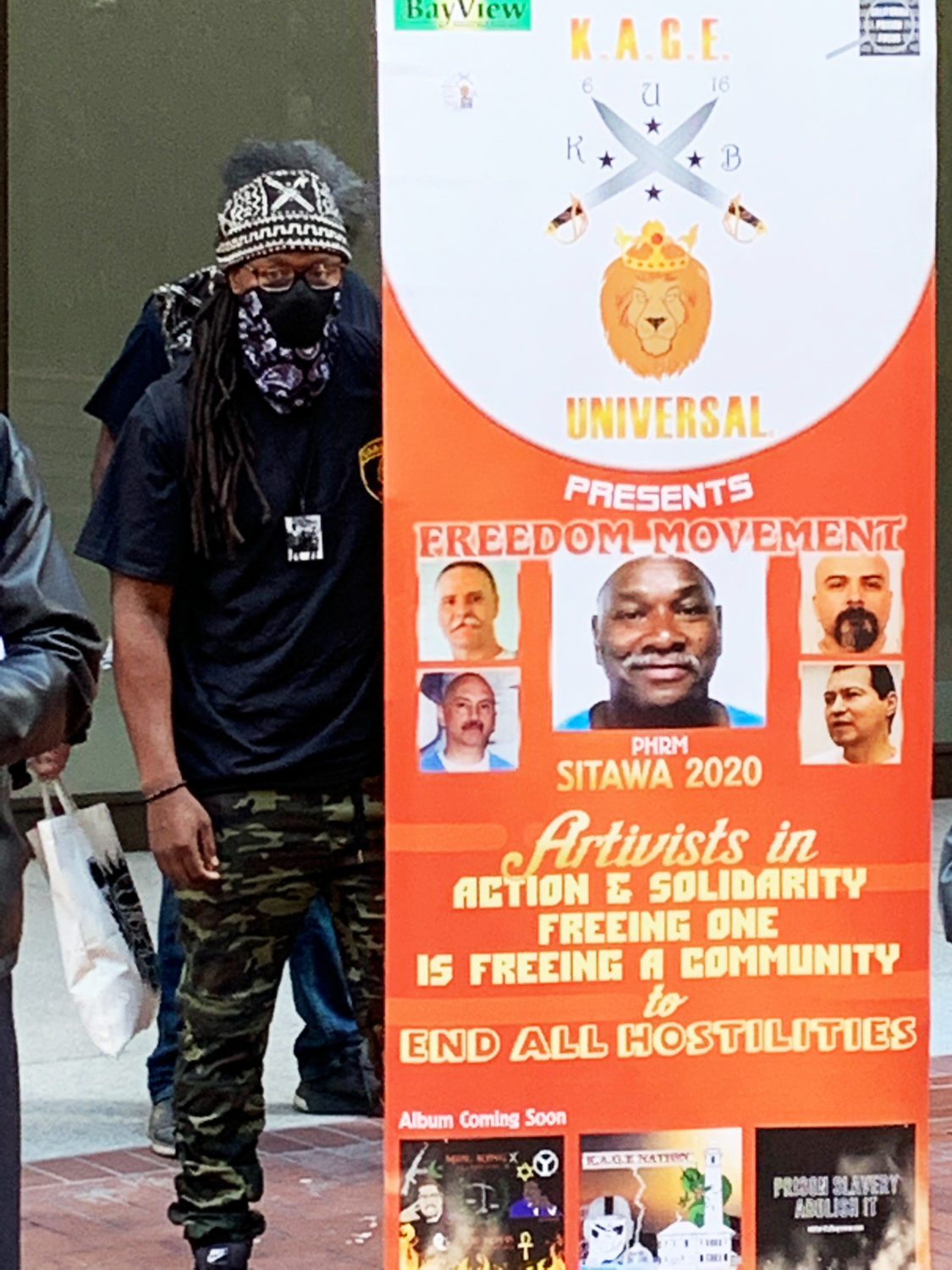 Minister-King-KAGE-Universal-at-Mumia-KQED-protest-042021-by-Malik, Juneteenth 2021! The struggle for freedom continues, Local News & Views