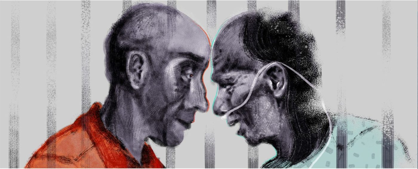 Prisoners-helping-each-other-die-with-dignity-art-by-Jeremy-Leung-1400x568, Against the odds, for a worthy cause, Behind Enemy Lines