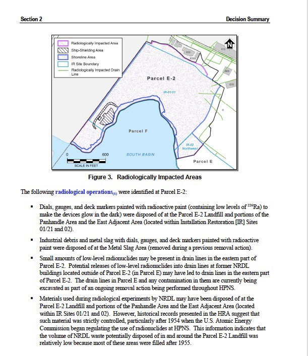 Radiologically-impacted-areas-HP-Shipyard-Parcel-E, Why I am calling for a Local Health Emergency in San Francisco, Local News & Views