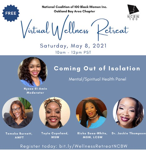 Virtual-Wellness-Retreat-050821-poster, Wanda's Picks for May 2021, Culture Currents