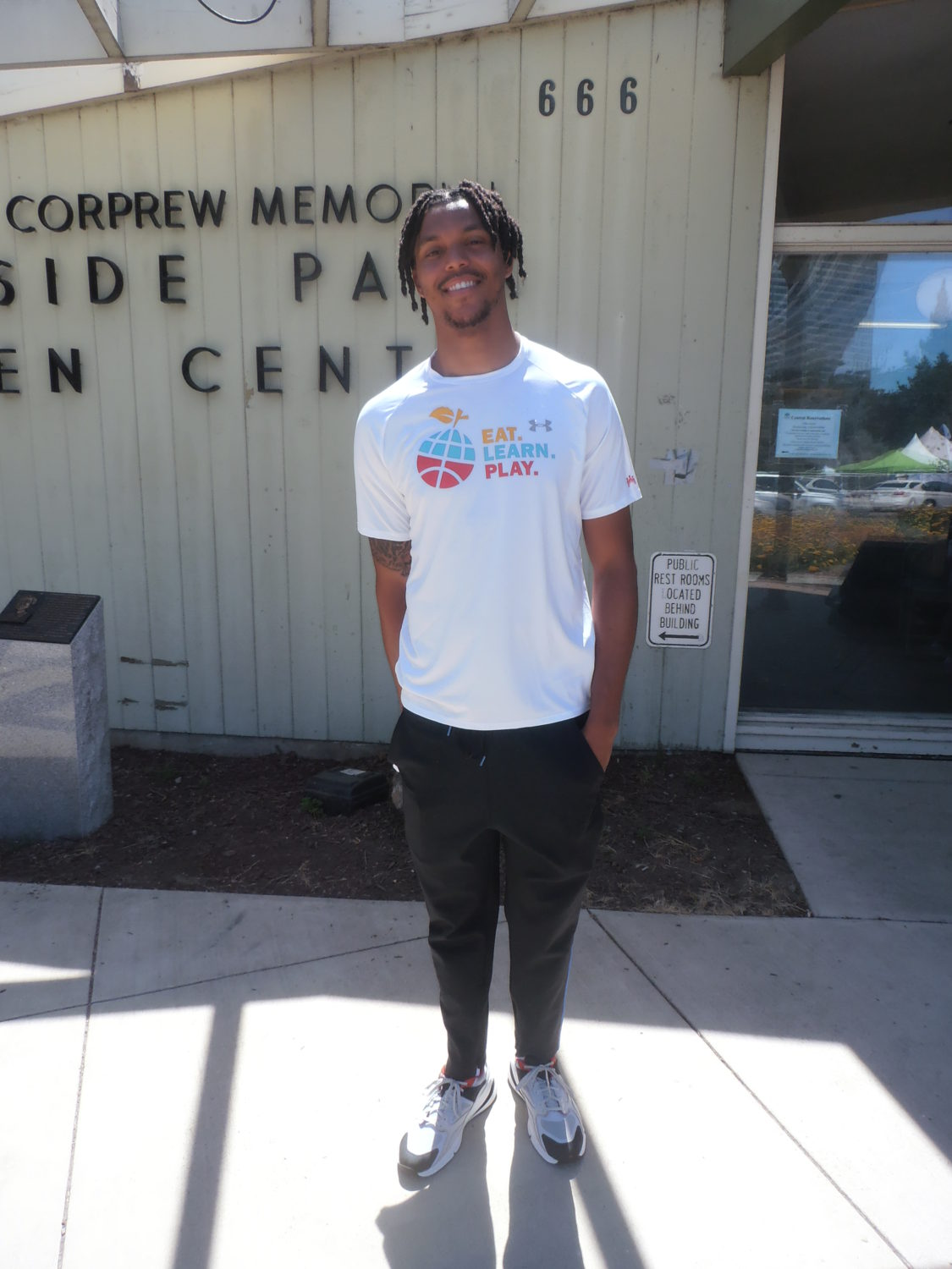 Warriors-Damien-Lee-at-Ayesha-Steph-Currys-Eat-Play-Learn-Community-at-Foundation-opening-Lake-Merritt-2019-by-Jahahara, Reparations are here!, Culture Currents