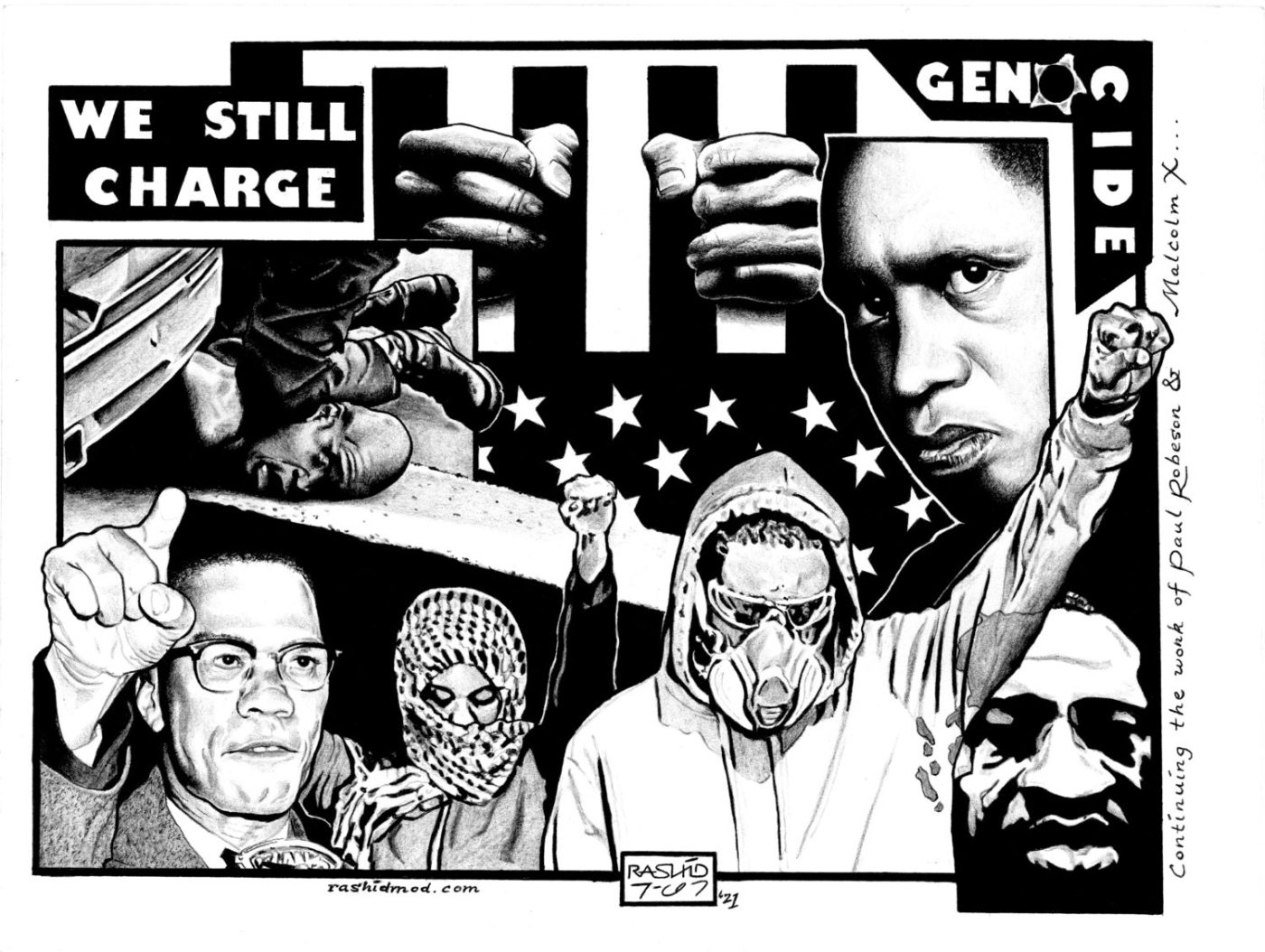 We-Still-Charge-Genocide-art-by-Rashid-042121-1400x1054, Liberate the Caged Voices, Behind Enemy Lines