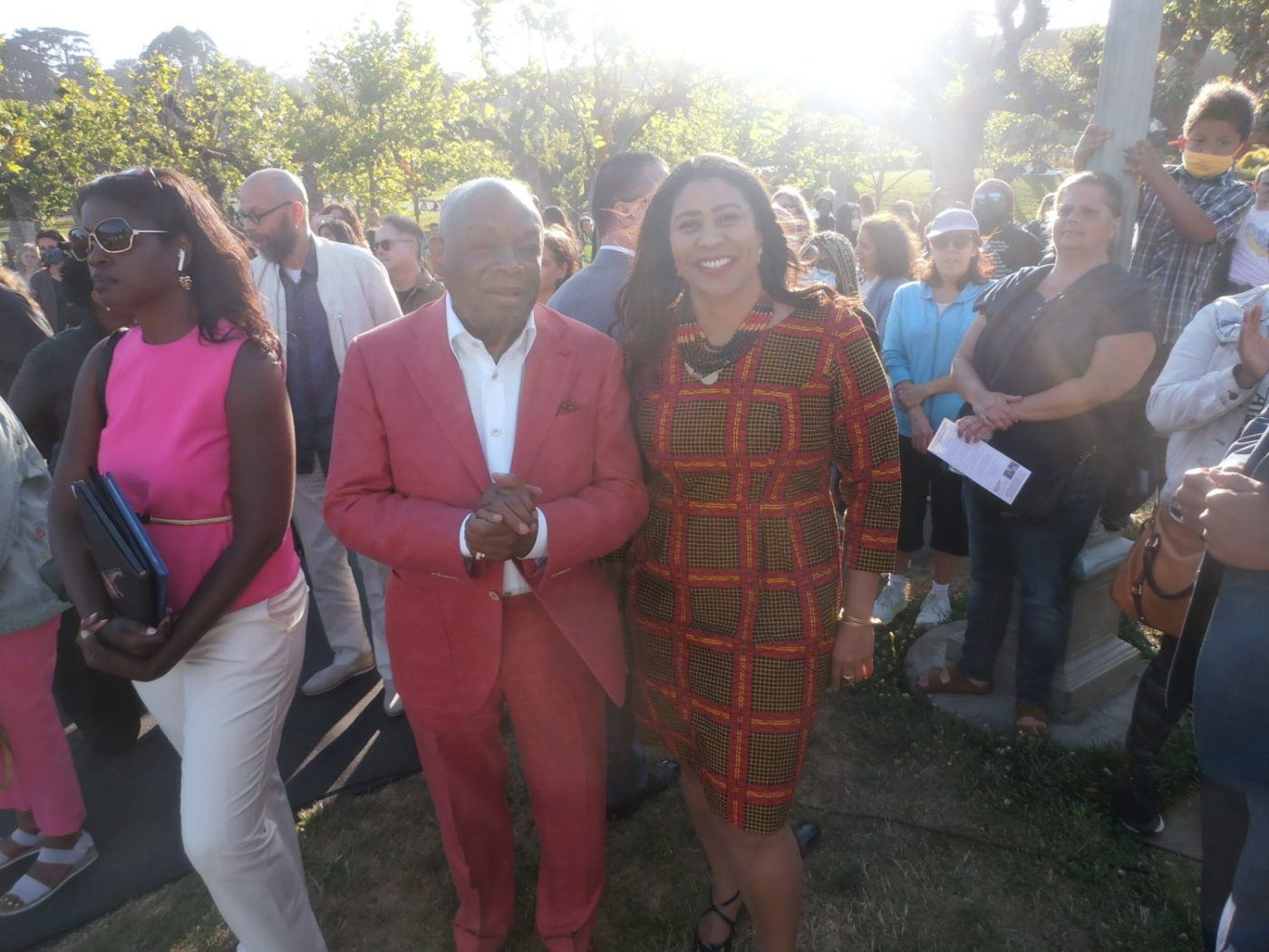 Willie-Brown-and-London-Breed-Monumental-Reckoning-in-Golden-Gate-Park-by-Jahahara-061821-1400x1050, The Juneteenth Holiday and Kujichagulia, or self-determination, Culture Currents