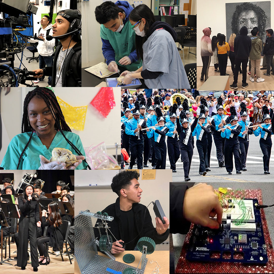 2020-photo-collage-of-Burton-Highs-students-in-their-classrooms-by-SFUSD, SF students get ready for in-person learning in the fall, Local News & Views
