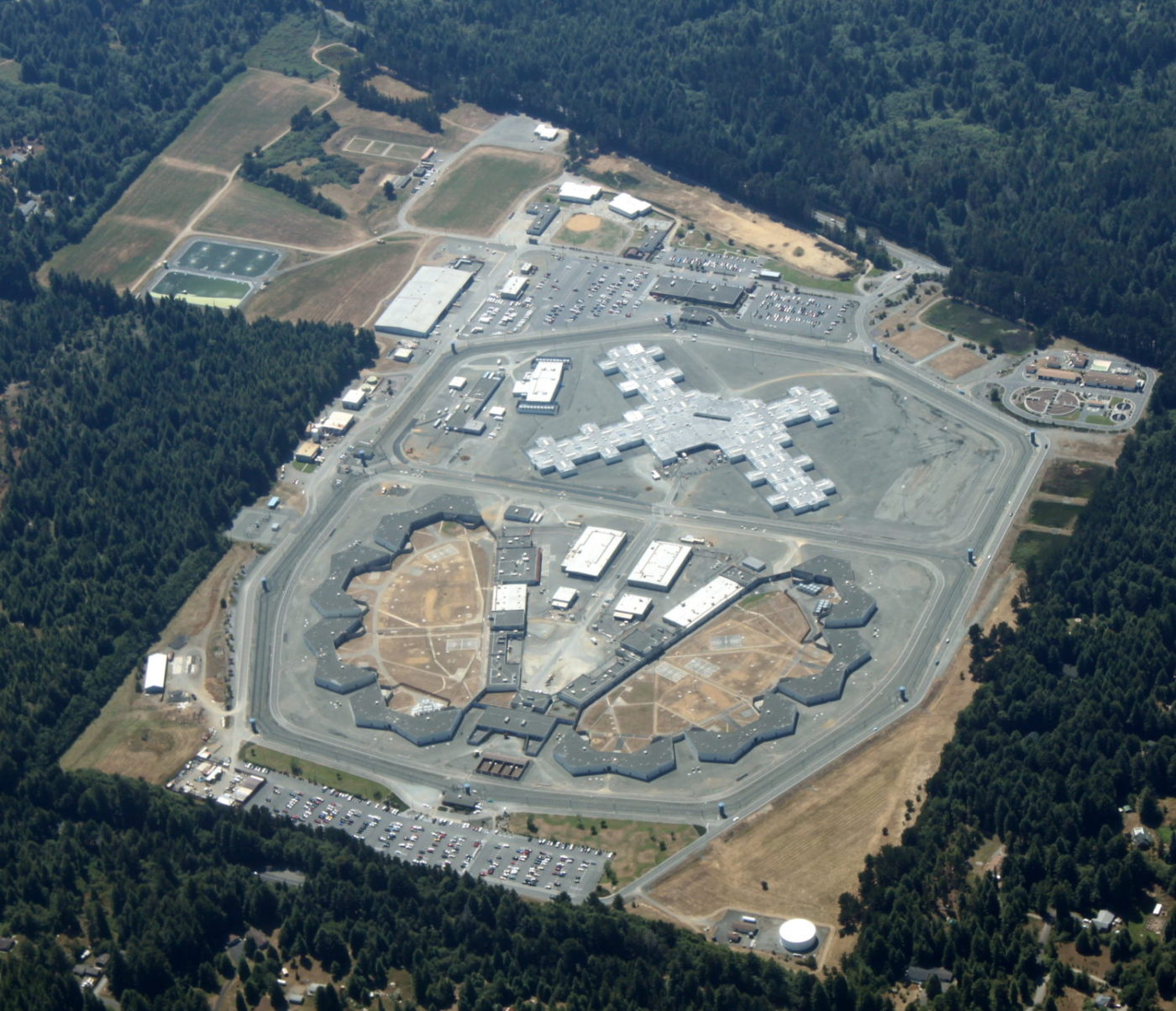 Aerial-view-of-Pelican-Bay-State-Prison-072709-1400x1203, Decades of torture, hundreds of men, weeks of starvation – and still we aren't free!, Behind Enemy Lines