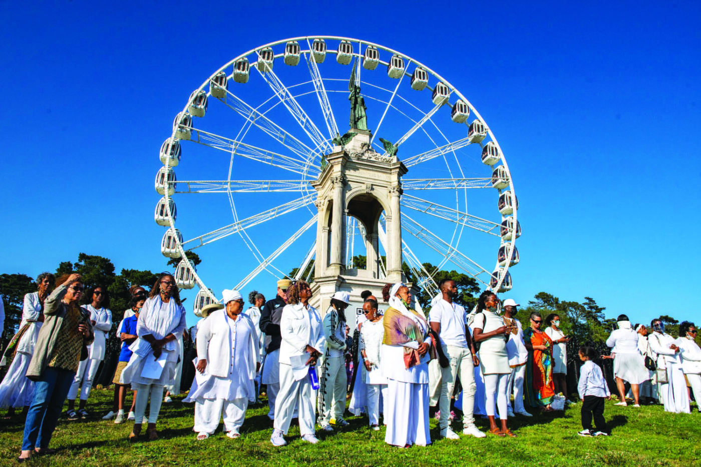 Crowd-by-ferris-wheel-Monumental-Reckoning-opening-ceremony-by-James-Watkins-061821-1400x933, Memory lives in the blood. Our ancestors live in us., Culture Currents
