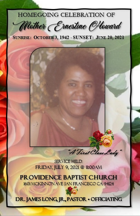 Homegoing-Celebration-of-Mother-Ernestine-Howard-at-Providence-070921-cover, Homegoing tribute to Mother Ernestine Howard of the legendary Wendy's Cheesecake Bakery, Local News & Views