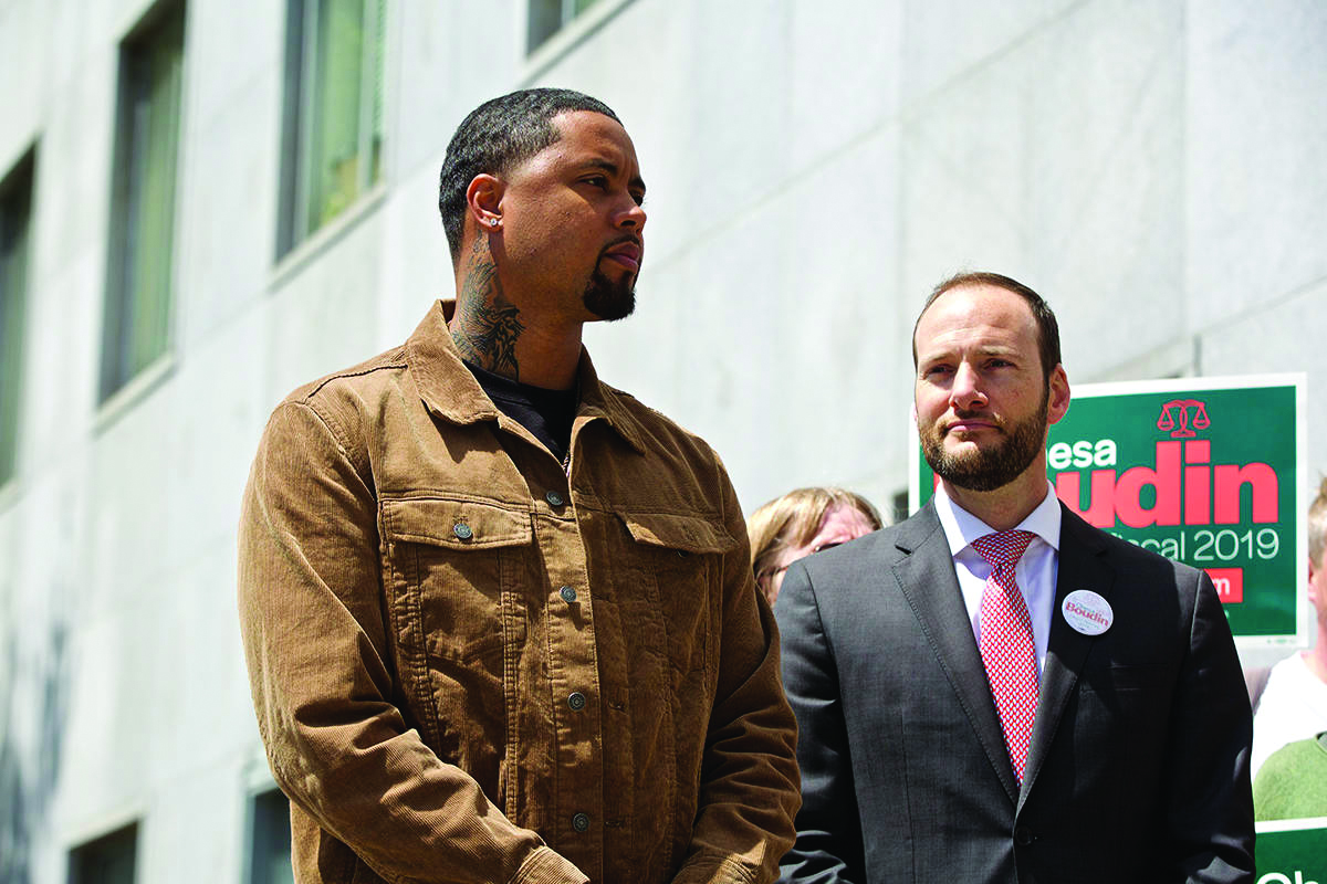 Jamal-Trulove-7-yrs-in-prison-on-wrongful-conviction-w-DA-cand-Chesa-Boudin-proposing-innocence-unit-043019-by-Examiner, Jamal Trulove speaks out against the recall of SF District Attorney Chesa Boudin, Local News & Views