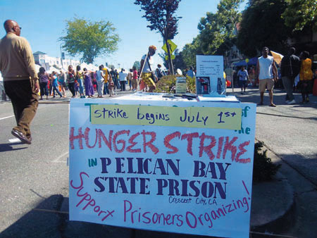 Pelican-Bay-SHU-hunger-strike-sign-at-Juneteenth-2011, Decades of torture, hundreds of men, weeks of starvation – and still we aren't free!, Behind Enemy Lines