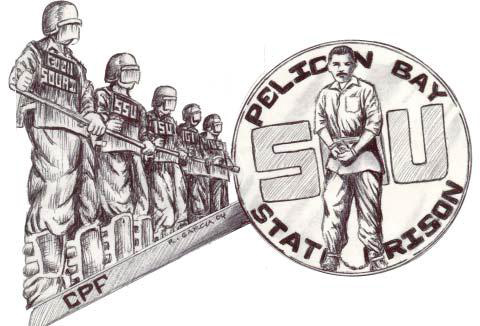 Pelican-Bay-State-Prison-SHU-art-by-R.-Garcia-2004, Decades of torture, hundreds of men, weeks of starvation – and still we aren't free!, Behind Enemy Lines