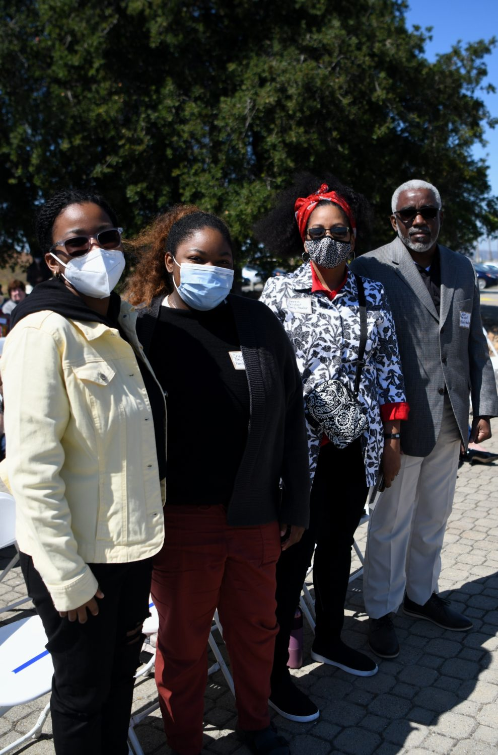 Jason-Felisbret-with-wife-and-two-daughters-at-at-the-77th-anniversary-commemoration-of-the-Port-Chicago-Explosion-by-Johnnie-Burrell-071721, 77th anniversary commemoration of the Port Chicago Explosion, Local News & Views