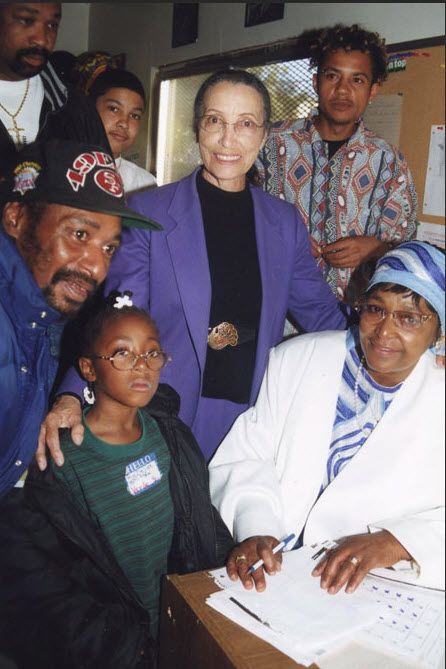 Betty-Reid-Soskin-Winnie-Mandela-protest-capital-punishment-San-Quentin-2005, On Sunday, Rosie the Riveter Trust will celebrate 'We Can Do It!' spirit and park ranger Betty Reid Soskin's 100th birthday, Culture Currents Featured