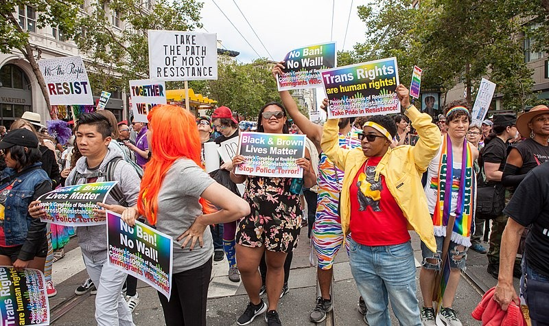 Black-Lives-Matter-San-Francisco-Pride-2017-by-Pax-Ahimsa-Gethen, Oakland Pride is back in person, Folsom Street Fair presents Megahood and more, Culture Currents