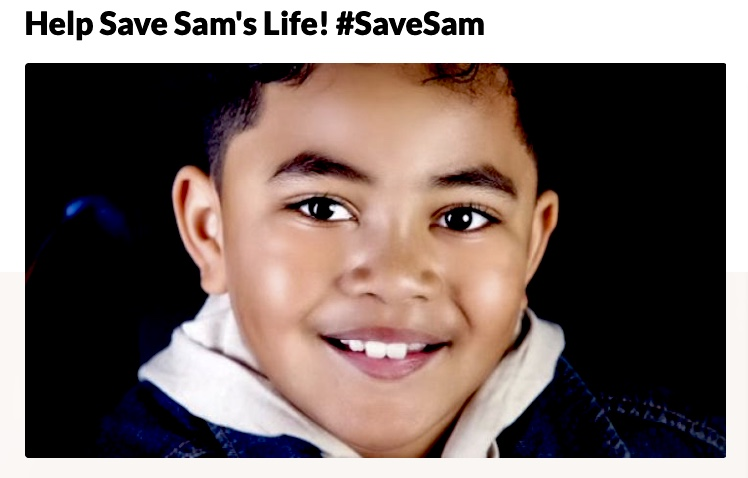 Help-save-Sams-life-Save-Sam-Sam-Johnson-10-brain-tumor-1, Help the family of 10-year-old Sammy Johnson, who died in his mother's arms of a brain tumor, Local News & Views