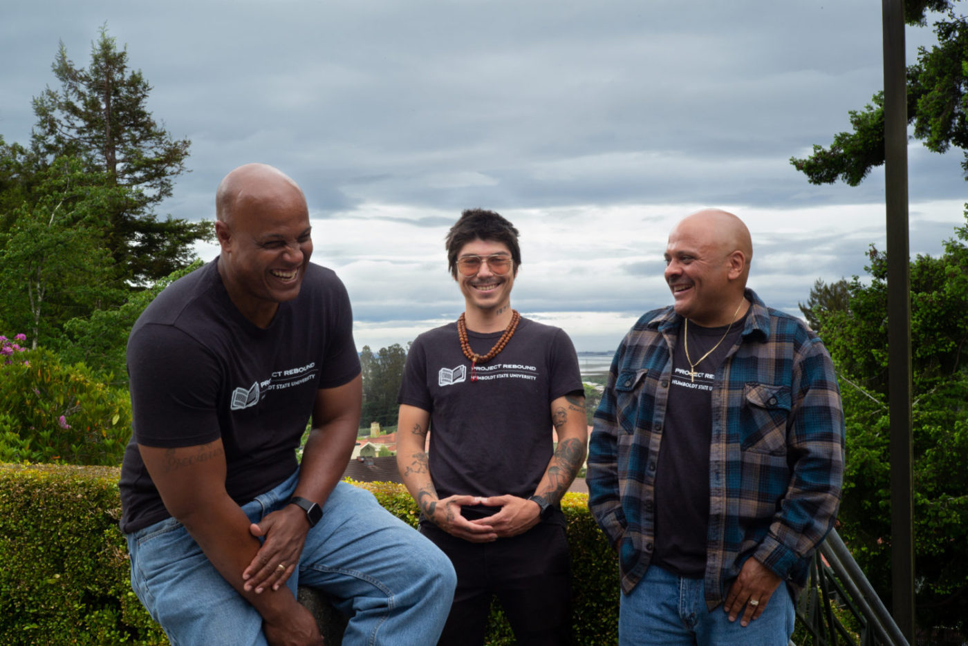 Project-Rebound-students-Eric-Clark-left-Mark-Taylor-flank-program-coordinator-Tony-Wallin-by-Dave-Woody-1400x935, Beacons of hope: Humboldt State's Project Rebound builds a prison-to-college pipeline, Local News & Views