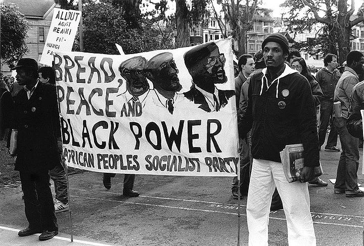 African-Peoples-Socialist-Party-protesting-Reagan-and-the-Queen-of-England-in-Golden-Gate-Park-by-Jeanne-Hansen-1983, In the Spirit of Mandela Tribunal is a stepping stone toward New Afrikan independence, World News & Views