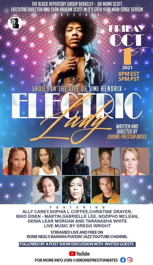 Black-Repertory-Group-show-Electric-Lady-The-Ladies-in-the-Life-of-Jimi-Hendrix-1021-, Wanda's Picks for October 2021, Culture Currents