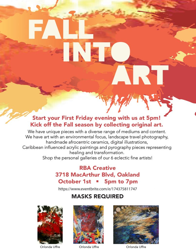 Fall-Into-Art-classes-in-Oakland-by-Orlonda-Uffrie-1021, Wanda's Picks for October 2021, Culture Currents