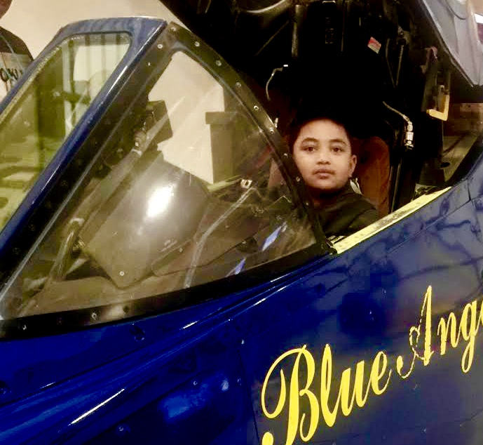 Sam-Johnson-sits-in-Blue-Angels-cockpit, Sam: Samuel-Ace Ieremia Johnson – Forever in our hearts, Culture Currents