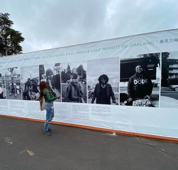 Shielby-Macene-with-'Black-Joy-at-Lake-Merritt-art-exhibit-in-the-Presidio-0821, Black joy, healing and art in the park: SF's Presidio opens up the 'My Park Moment' photo show, Culture Currents